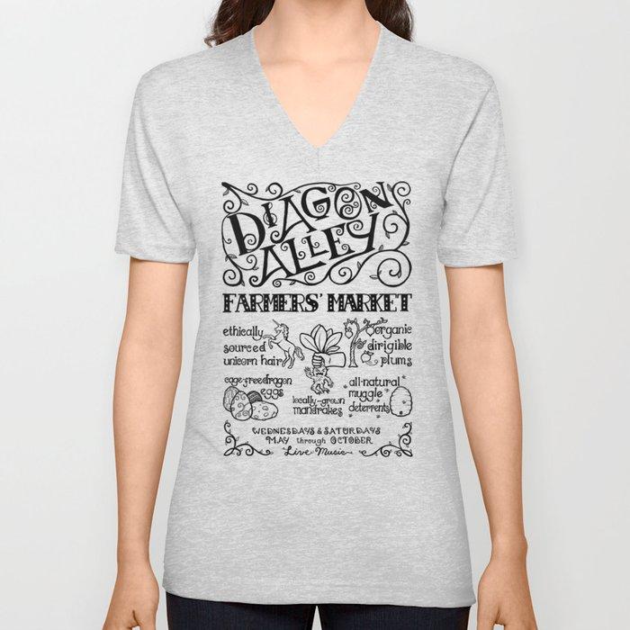 Diagon Alley Farmers' Market Unisex V-Neck