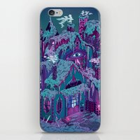 house iPhone & iPod Skins featuring December House by Valeriya Volkova