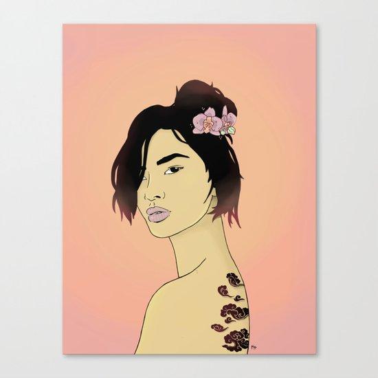Cloudy Lady Canvas Print