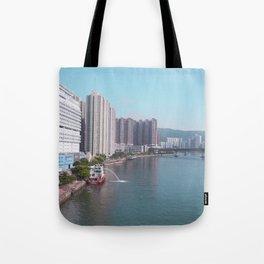 Tsuen Wan Harbour Tote Bag