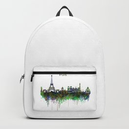 Paris Skyline watercolor Backpack