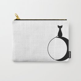 Moon Cat Inverse Carry-All Pouch
