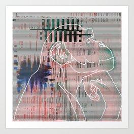 Monkey mind revolution Art Print