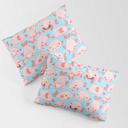 Blobfish Pattern Pillow Sham