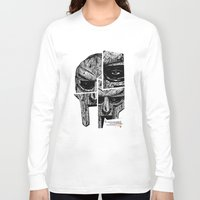 doom Long Sleeve T-shirts featuring MF Doom by Crooked Octopus