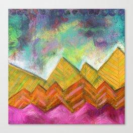 Autumn Mountain Peaks Canvas Print