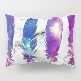 marble galaxy feathers Pillow Sham