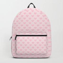 Large Light Soft Pastel Pink Love Hearts Backpack
