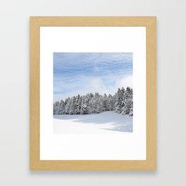 Charteuse Mountain2 Framed Art Print