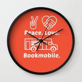 Peace. Love. Bookmobile Wall Clock