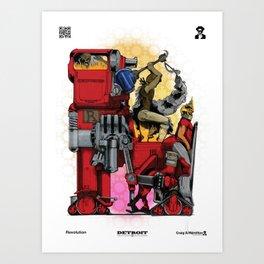 """Detroit: The Present - """"Revolution"""" Art Print"""