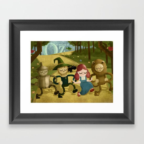 Wizard of Oz fan art Framed Art Print