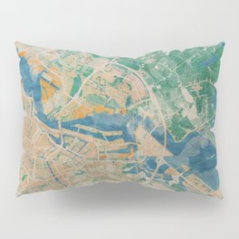 Amsterdam, the watercolor beauty Pillow Sham