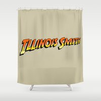 melissa smith Shower Curtains featuring Illinois Smith by Tom Burns