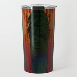 Feathers at campfire Travel Mug