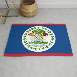 flag of belize-Belice, Belizean,Belize City,beliceno,Belmopan Rug