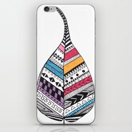 Aztec Leaf and Feathers iPhone Skin