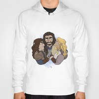 thorin Hoodies featuring Thorin, Fíli and Kíli by BlueSparkle