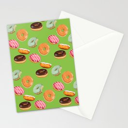 Android Eats: donut pattern Stationery Cards