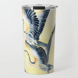 Flight Of Blue Heron  Travel Mug