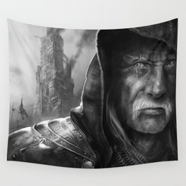 Tired Old Man Wall Tapestry