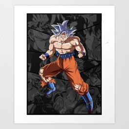 Goku Ultra Instict Broly Saiyan Art Print