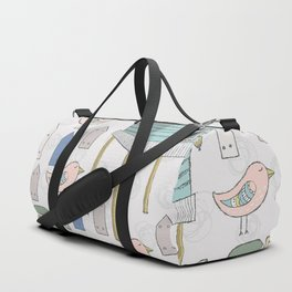 Adorable and Lovely Birds Pattern Duffle Bag
