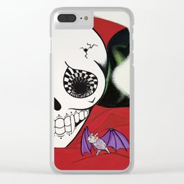 Vampire Skull Clear iPhone Case