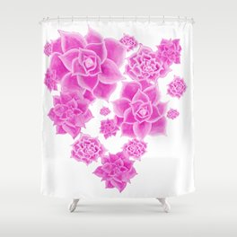 Succulents in the Mist  Shower Curtain