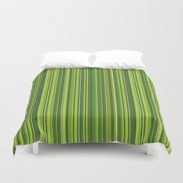 Many multicolored strips in the green sample Duvet Cover