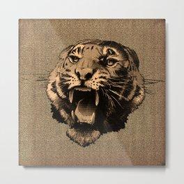 Vintage Tiger Metal Print