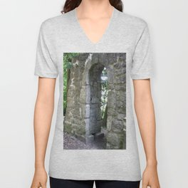 Ruins of Asseburg Unisex V-Neck