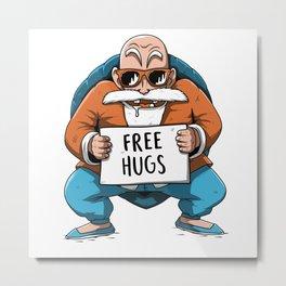 Muten Roshi free hugs Metal Print