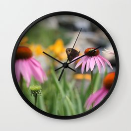 Butterfly and the Bee Wall Clock