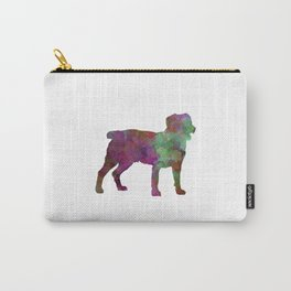 Appenzell Cattle Dog in watercolor Carry-All Pouch