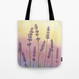 Lavender in Sunset Tote Bag