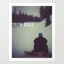 snow ninja Art Print