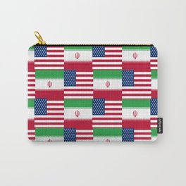 Mix of flag : Usa and Iran. Carry-All Pouch