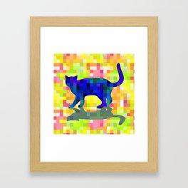 Cubist Cat Framed Art Print