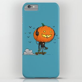 The Skater Pumpkin iPhone Case