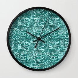Whale Shark Skin (Teal Color) Wall Clock
