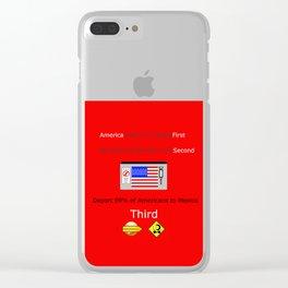 America FIrst Clear iPhone Case