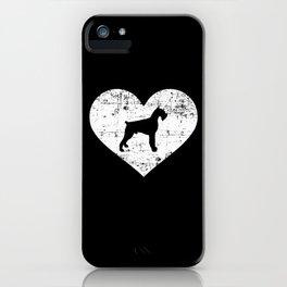 Giant Schnauzer heart iPhone Case