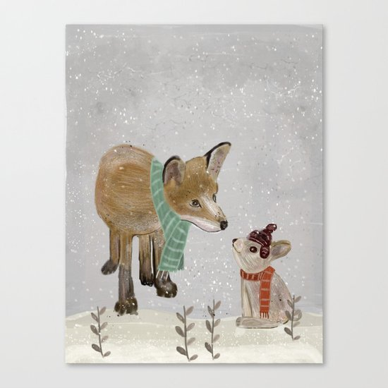 hello mr fox Canvas Print