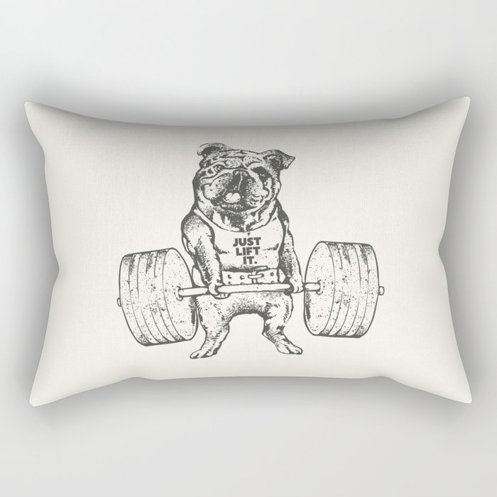English Bulldog Lift Rectangular Pillow
