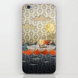 paper boat iPhone Skin