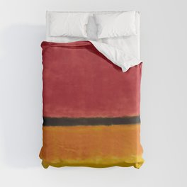 1949 Untitled (Violet, Black, Orange, Yellow on White and Red) by Mark Rothko Duvet Cover