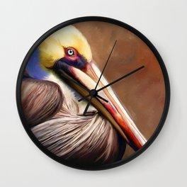 Cedar Key Pelican Wall Clock
