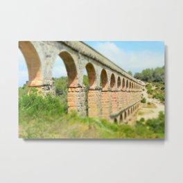 Ancient Roman Aqueduct Metal Print