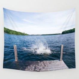 Lake Splash Wall Tapestry